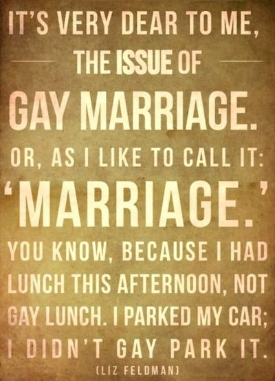 Gay marriage :-)
