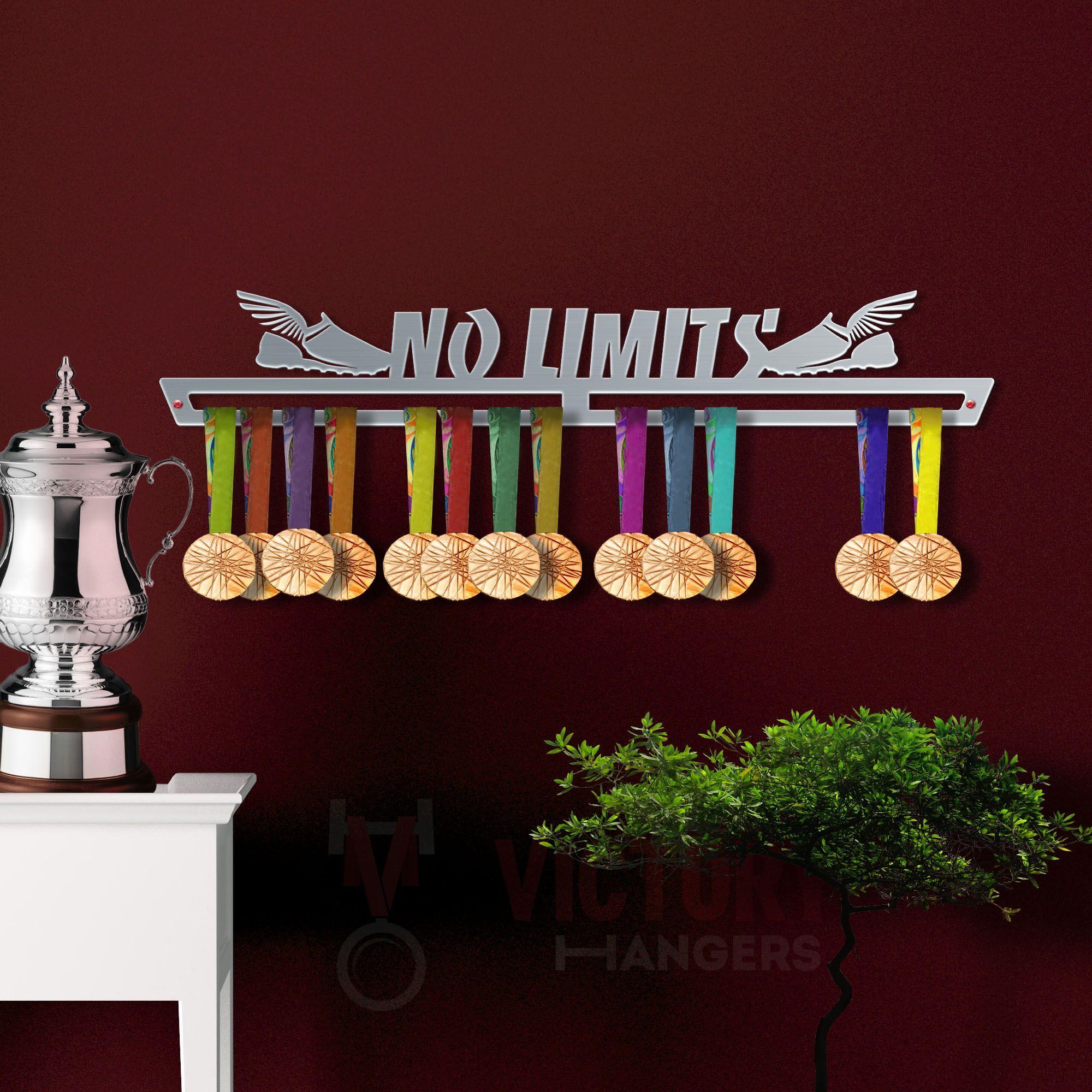Personalised Medal Hanger Holder Display Achievement Hook Board Plaque Rail Rack