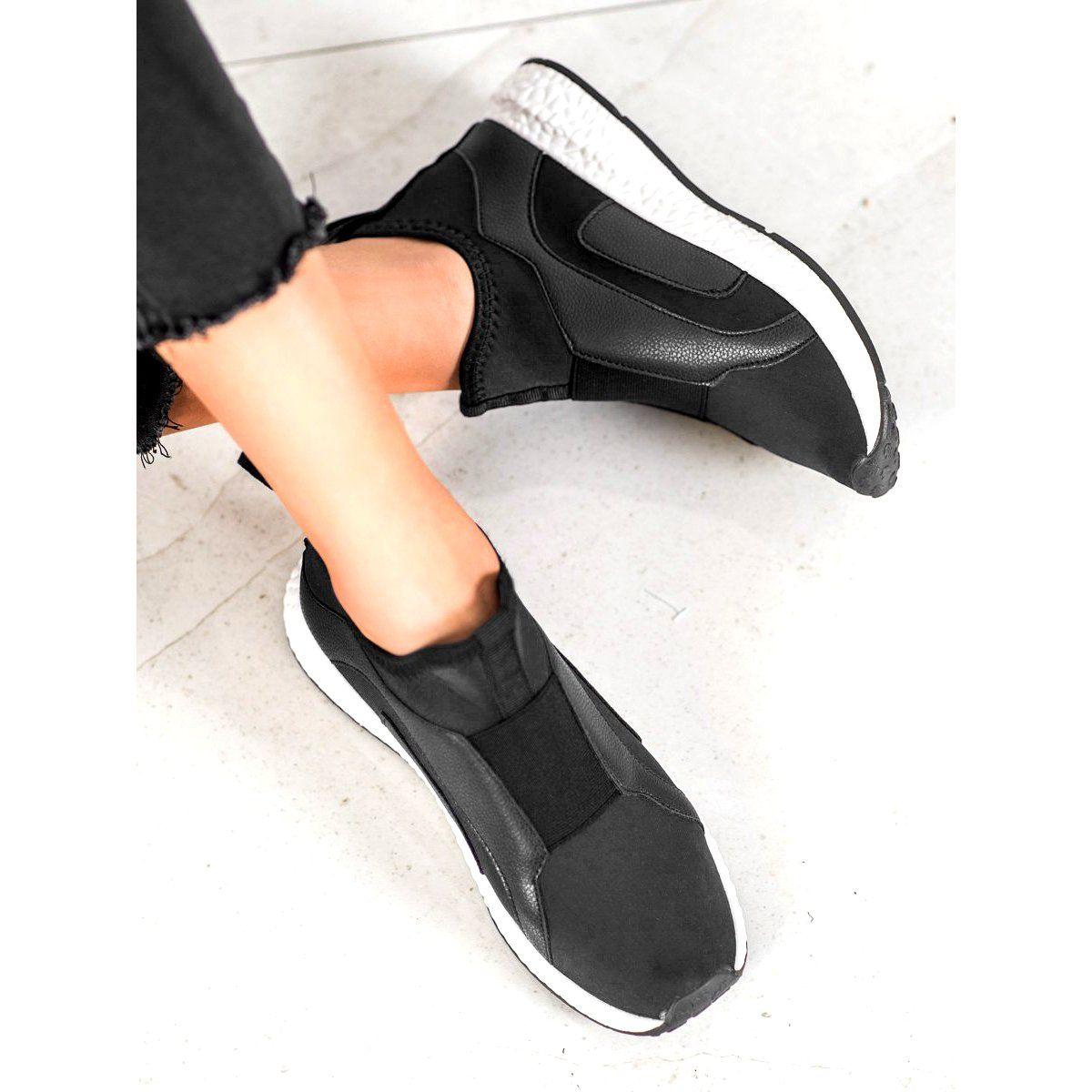 Bona Czarne Buty Na Platformie In 2020 Black Platform Shoes Black Fashion Boots Blue Platform Shoes