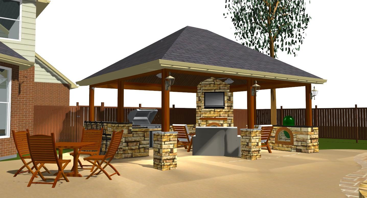 Backyard covered patio backyard patio cover ideas for Small patio design plans