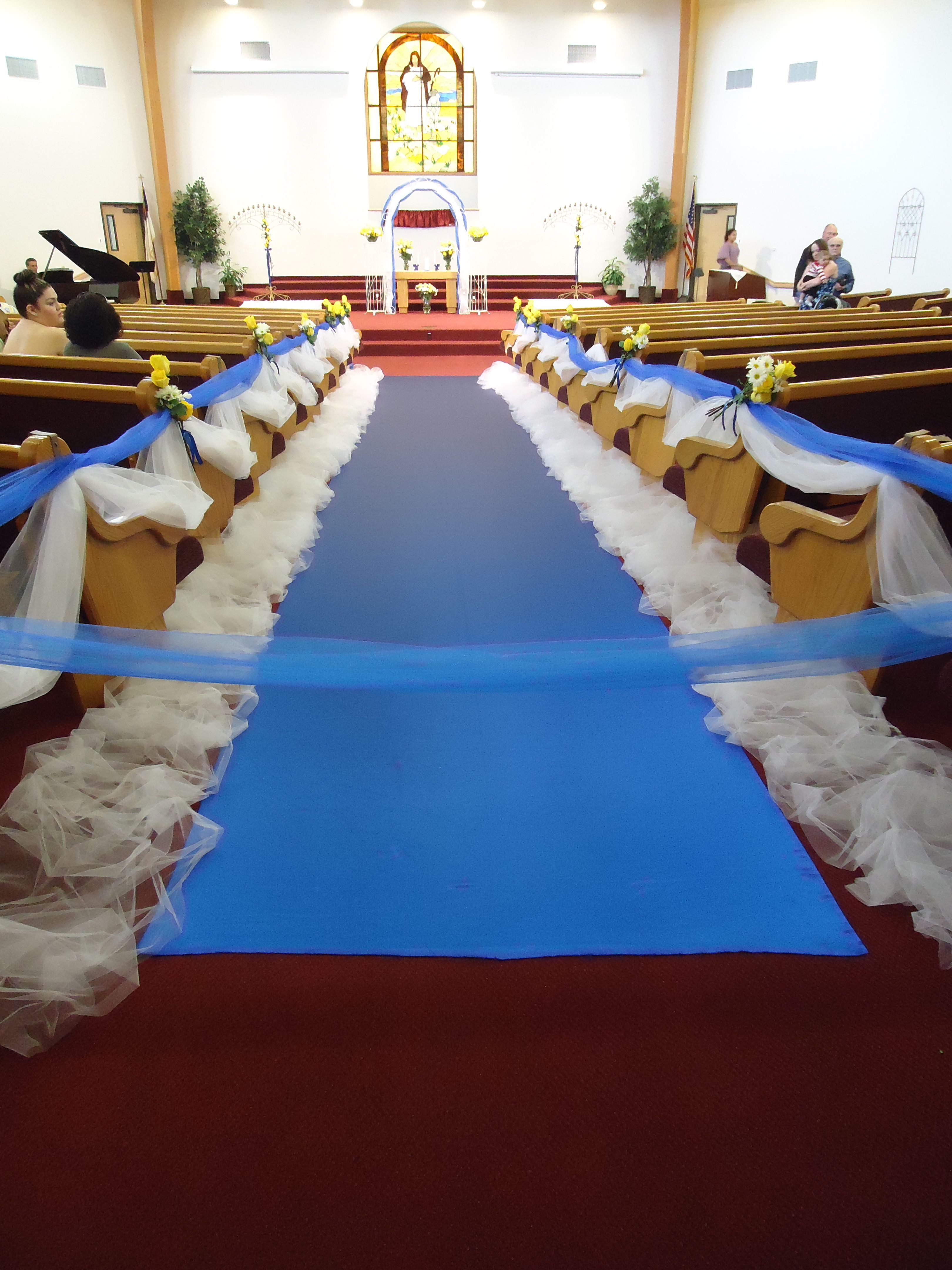 We Have Blue Aisle Runners We Have Many Different Lengths