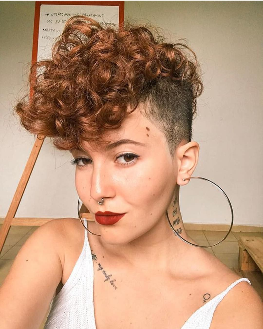 33++ Long curly hair shaved sides inspirations