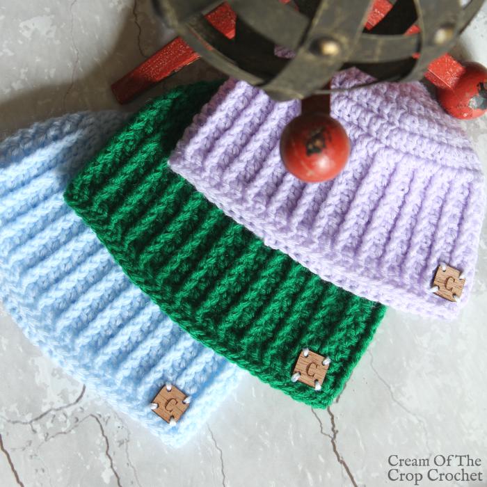 Textured Newborn Hat Crochet Pattern Video Tutorial Crochet