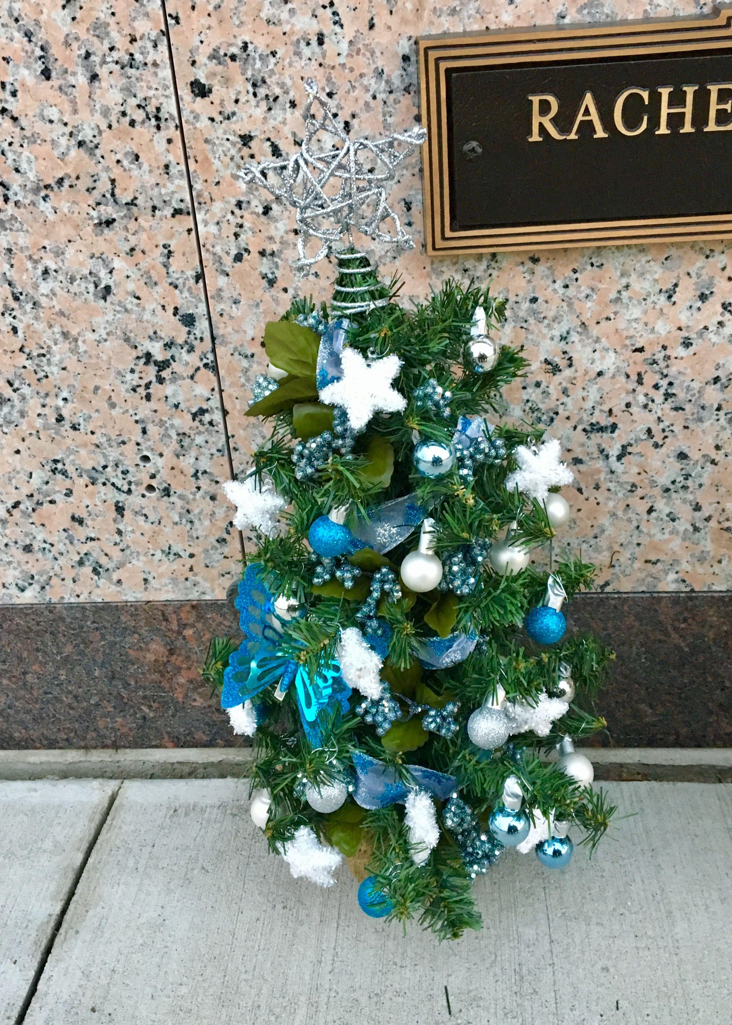 Christmas tree for gravesite Cemetery decorations
