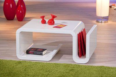 Tavolino Soggiorno ~ Tavolino salotto tavolo moderno bianco lucido soggiorno