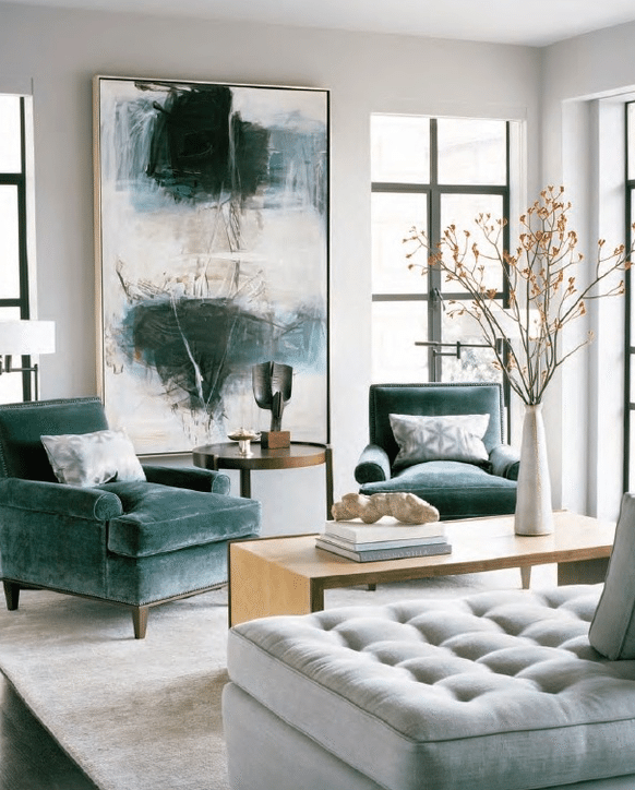 A Living Room Design Top Interior Décor Design  Design Trends Teal And Personality