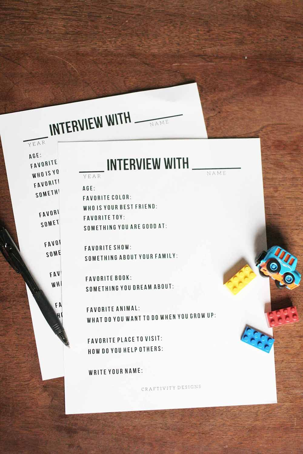 Interview Questions Template Yearly Interview Questions For Kids  Pinterest  Birthday Interview .