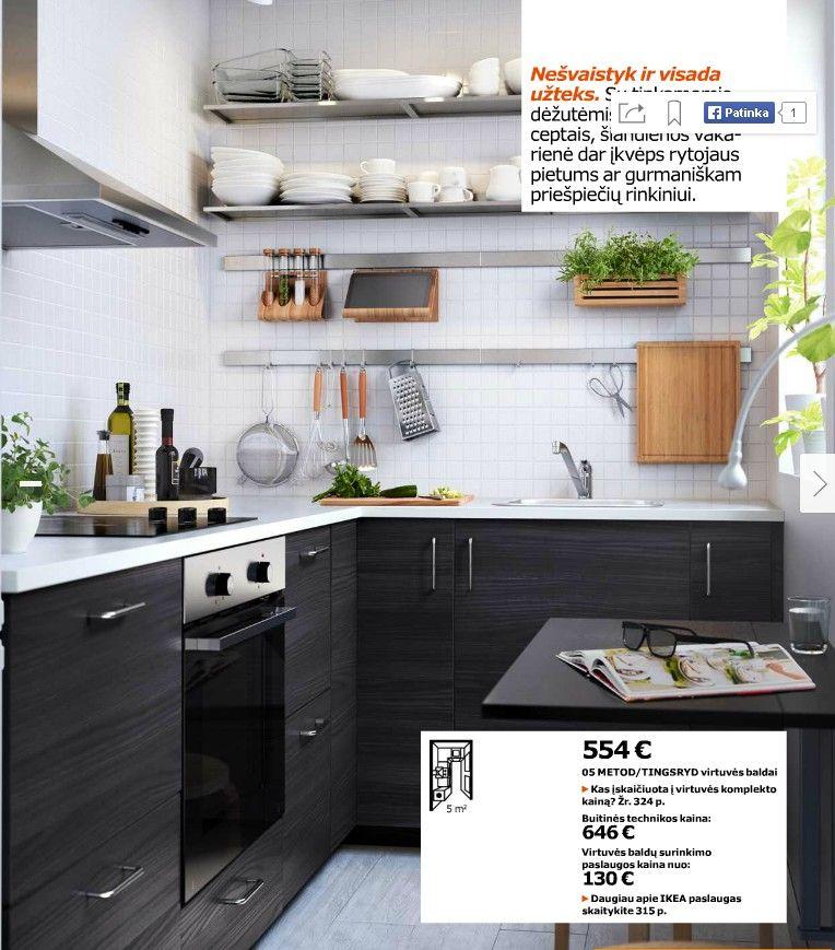 Two Tone Kitchen Cabinets Ikea: Ikea 2016 White And Black Kitchen. Love How Fresh And