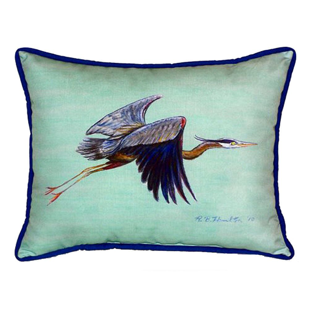 Flying Heron Indoor Outdoor Lumbar Pillow Outdoor Pillows Indoor Outdoor Pillows Pillows