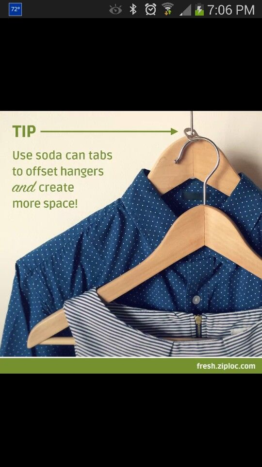 Soda tabs to increase more closet space