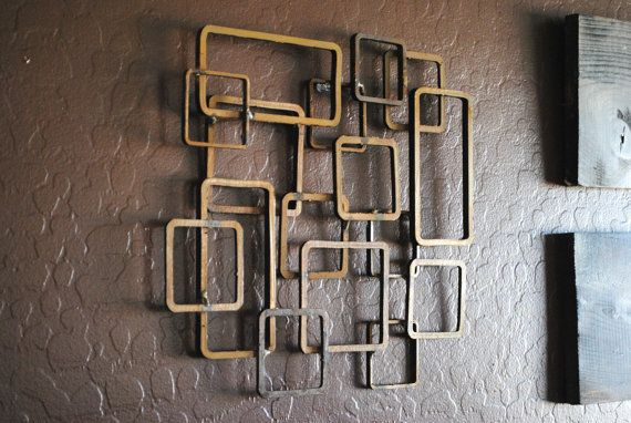 Retro Modern Metal Sculpture Art Abstract Mid Century Contemporary ...