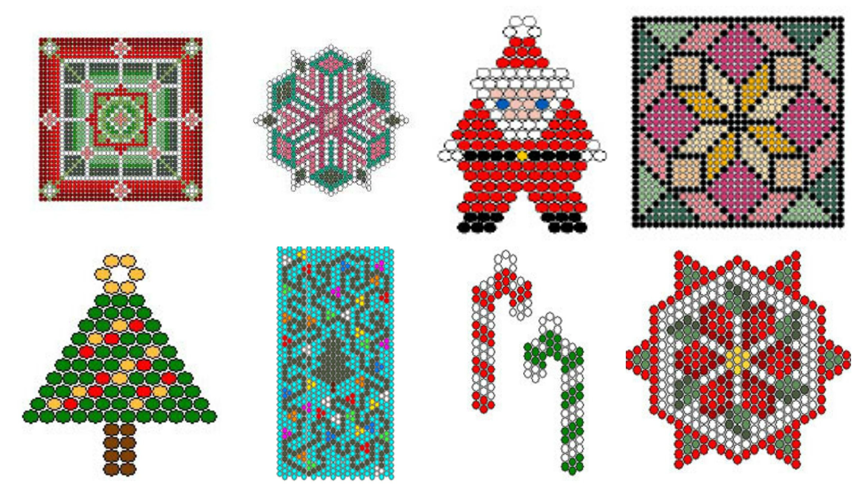 8 Free Holiday Cards Beading Pattern By Chris Ann Philips At Sova
