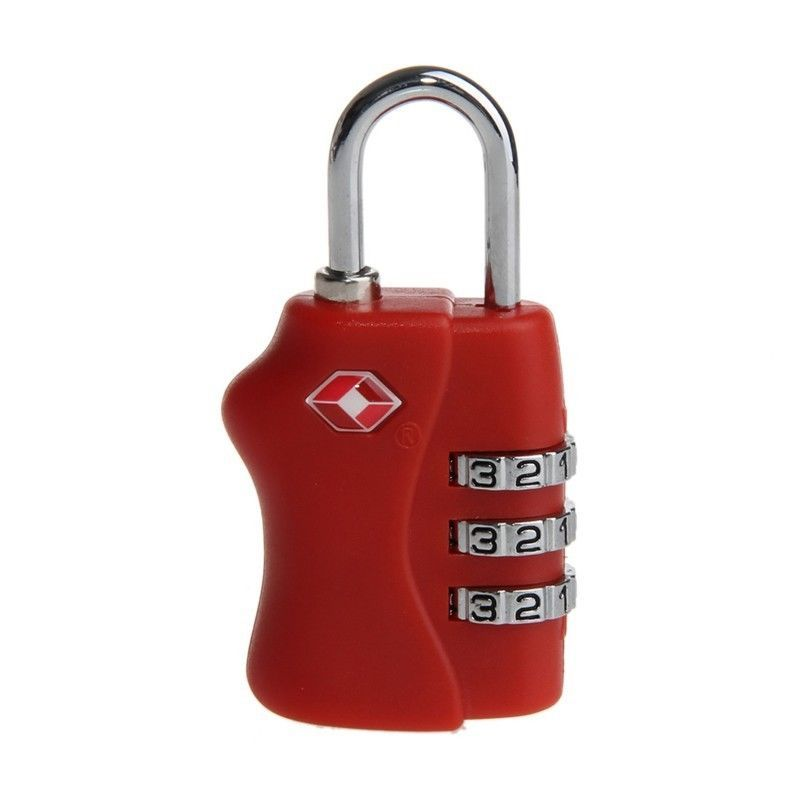 TSA 3 Digit Combination Resettable Travel Suitcase Luggage Code Lock Padlock