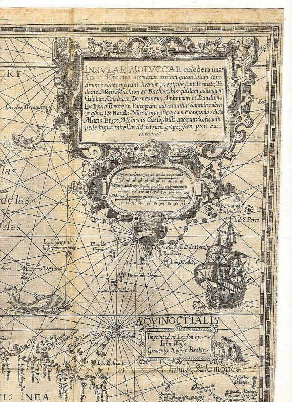 Spice Islands 12 Borneo Antique World Maps Old World Map