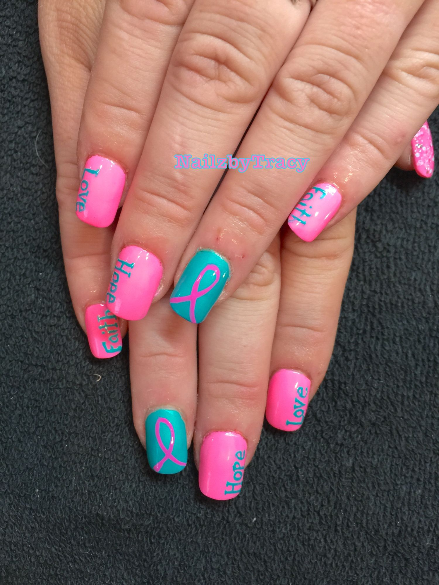 Breast Cancer Awareness Nails | Fall nails | Pinterest | Breast ...