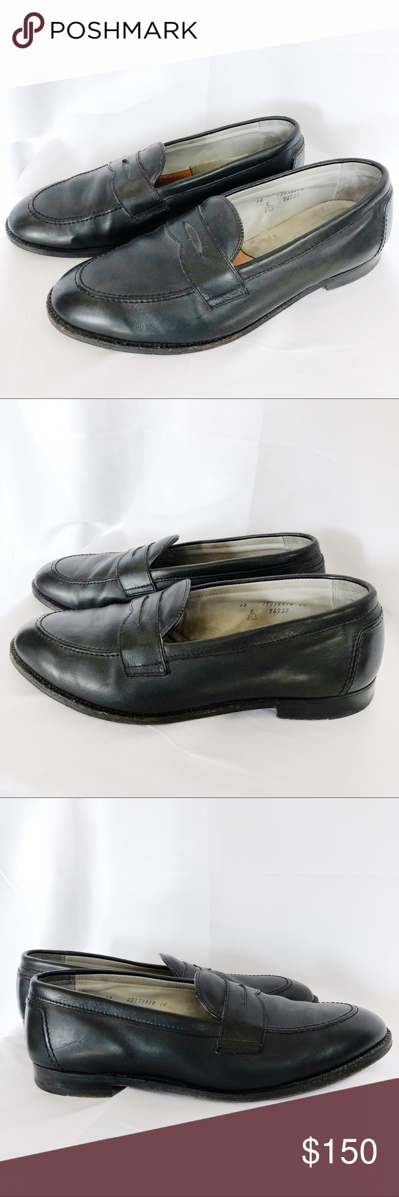 51243c62296 Alden Penny Loafer 9695F Flex Welt Black Calfskin In excellent used  condition. Light wear. Well maintained. Very light wear. Width measures 4  5 8 inches.