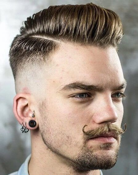 Comb Over Fade Hairstyle Men Haircut Styles Haircuts For Men Mens Hairstyles