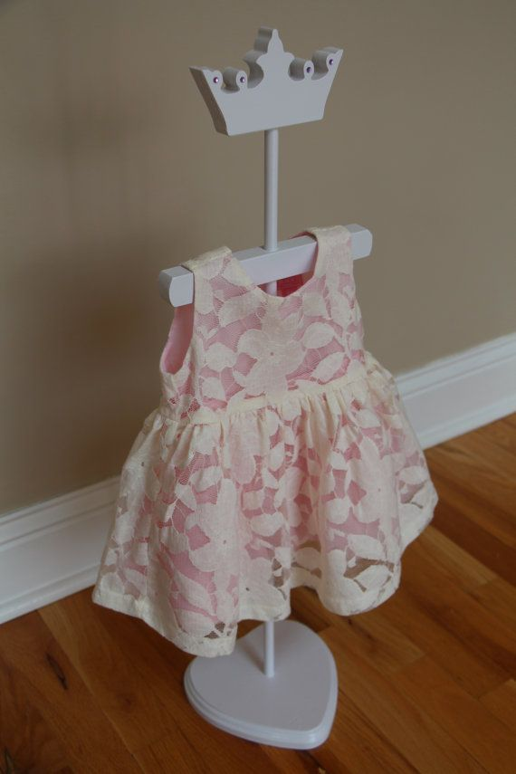 Princess Crown Dress Stand With Crystals Great For Displaying Baby Extraordinary Baby Dress Display Stand