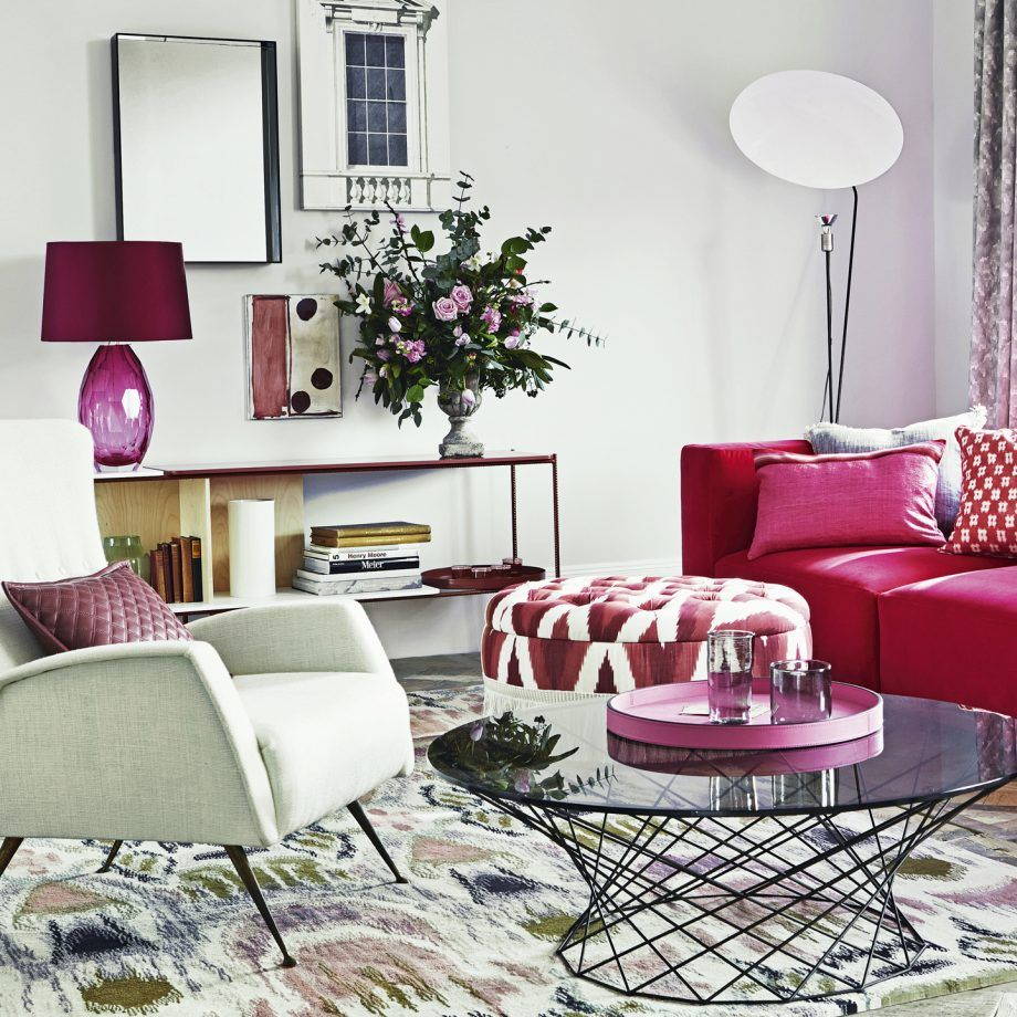Scion Cushion | Pink furniture, Room color schemes and Living room ...