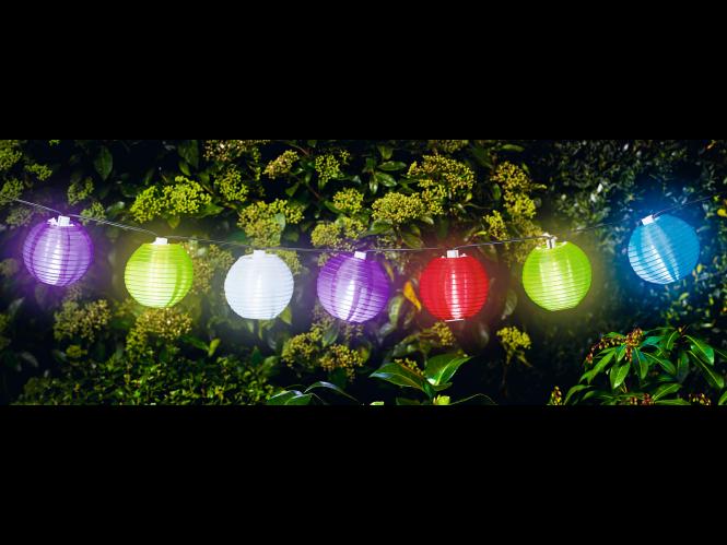 Flector Garten Solar Lichterkette Lampions Solar Lichterkette Lichterkette Solarleuchten