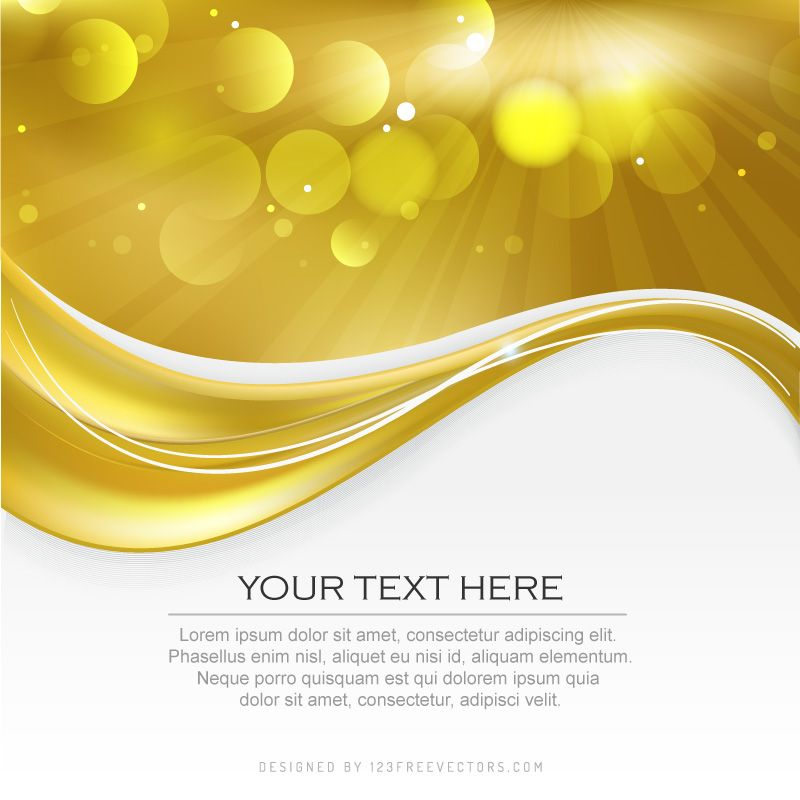 Abstract Yellow Background Illustrator Template | Yellow background