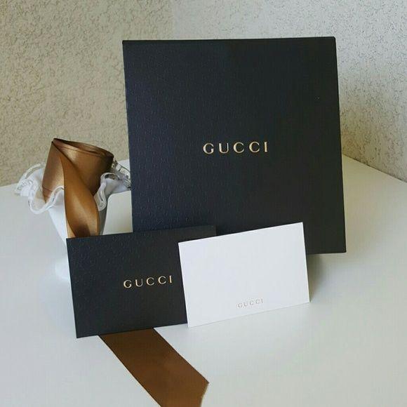 Gucci Gift Box Empty, Gucci Gift Box. It Is A Fold Out Box