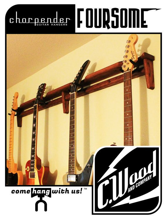 the chorpender multi guitar wall hanger foursome by on guitar wall hangers id=69278