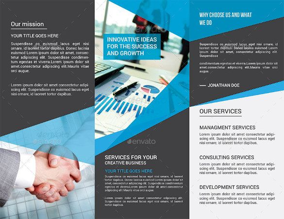 Tri Fold Brochure Templates   Free Psd Ai Vector Eps Format