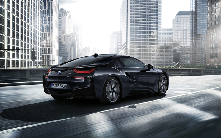 Download Wallpapers Bmw I8 2017 4k Sports Electric Car Black I8