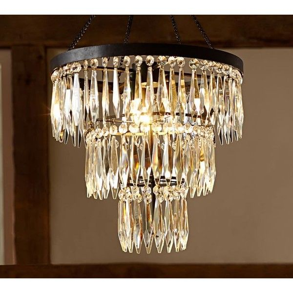 Pottery barn adele crystal large chandelier 699 liked on pottery barn adele crystal large chandelier 699 liked on polyvore featuring home mozeypictures Choice Image