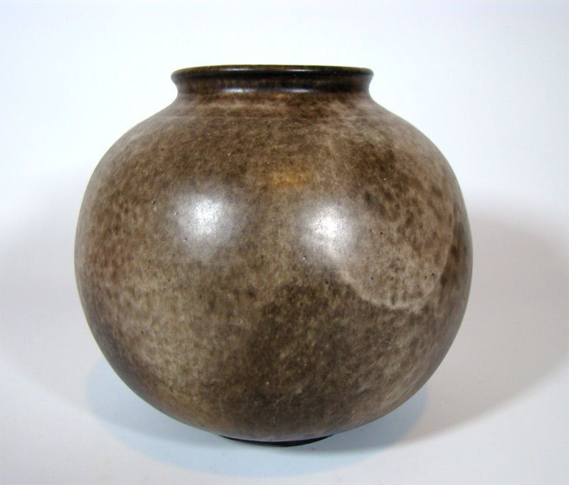 Bauhaus Keramik Vase signiert German Globe Art Pottery
