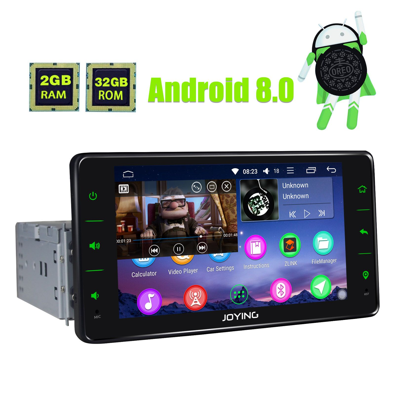 Best 6 2 Inch single din android car head unit Octa Core support