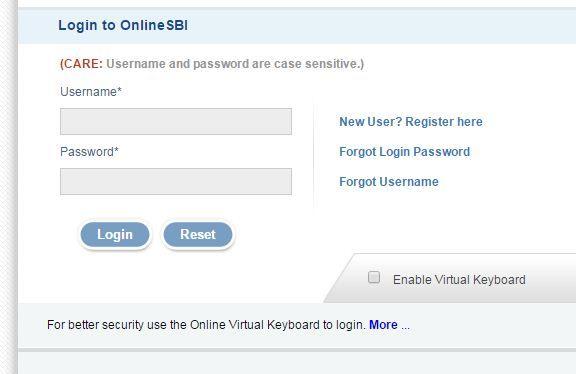 Sbi Online Login Net Banking Www Sbi Co In Online Sbi Login
