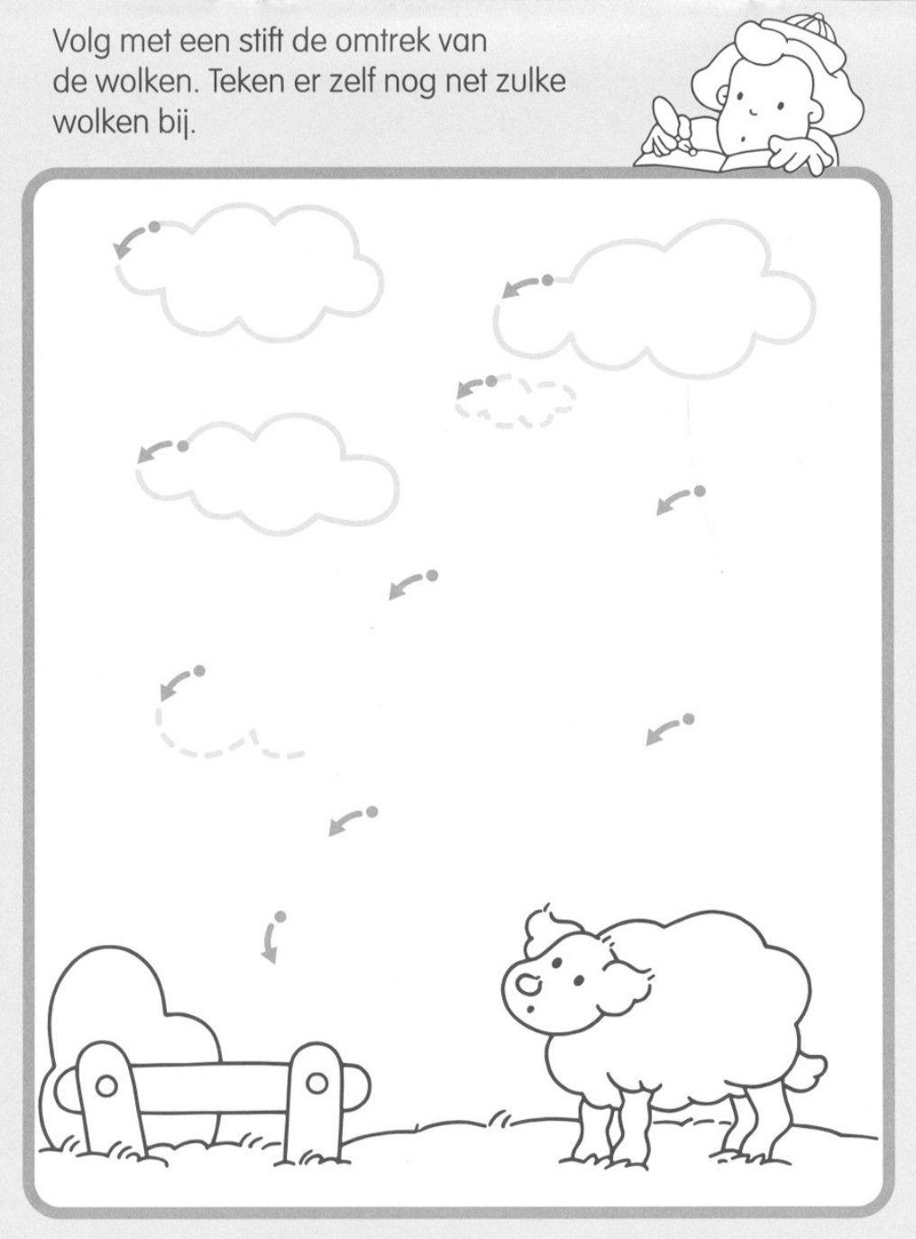 Volg de lijn en maak de wolken... | Kids Activities | Pinterest ...