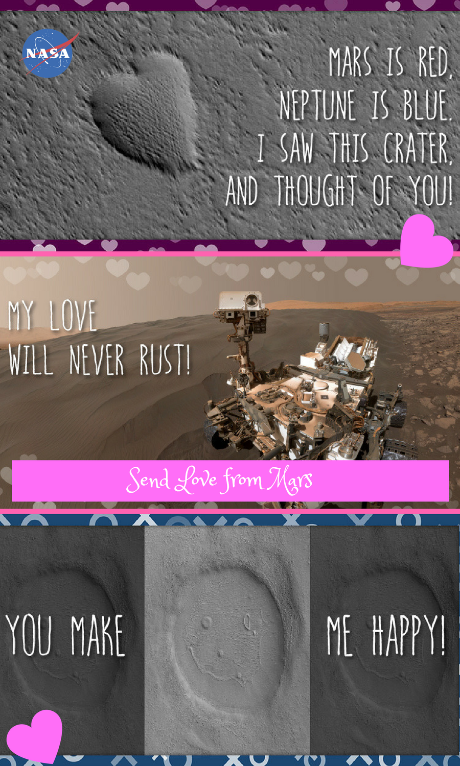 Send Valentines Day Greetings From Mars Choose An E Card Design To