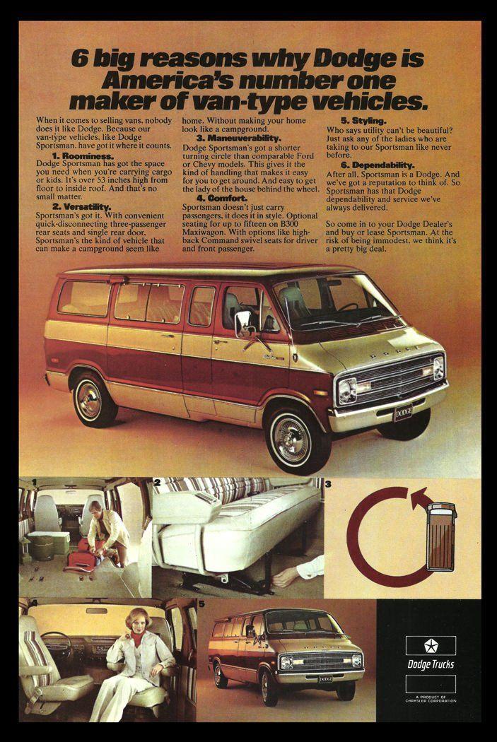 1977 DODGE Sportsman Van Truck AD Photo Illustration