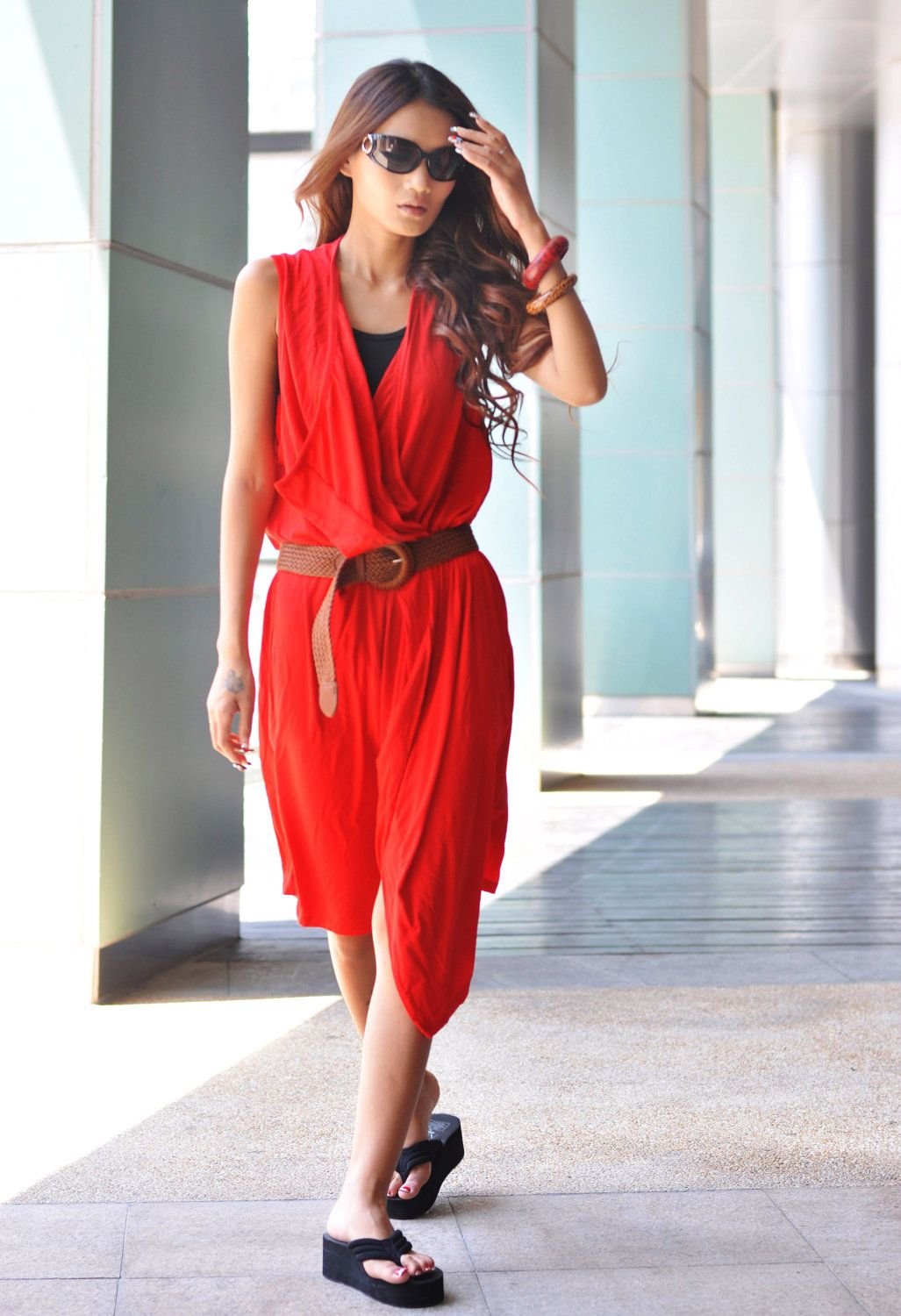 Long red dress for wedding  love the color Sophia Zhang  Fashion  Pinterest  Spring summer
