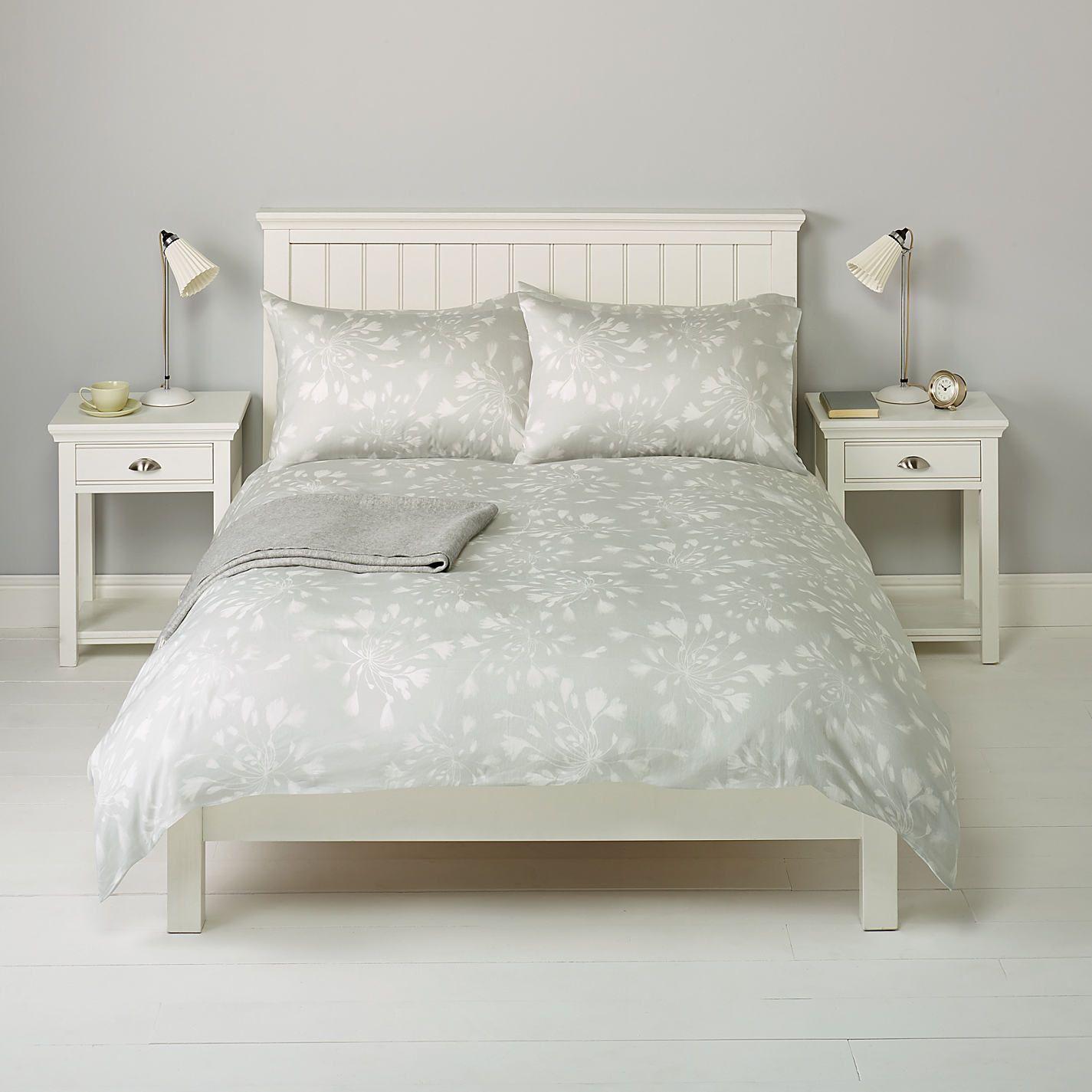 Buy John Lewis Agapanthus Bedding Grey