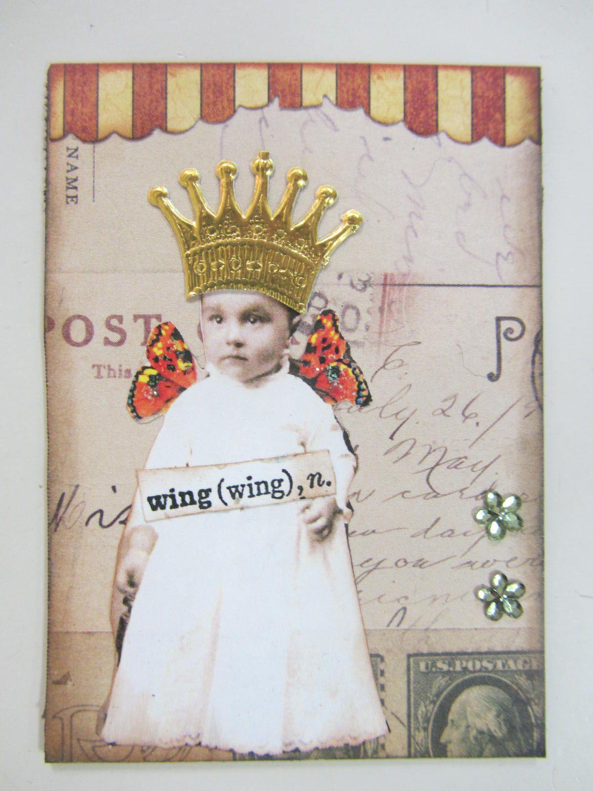 Free vintage digital stamps artist trading card swap