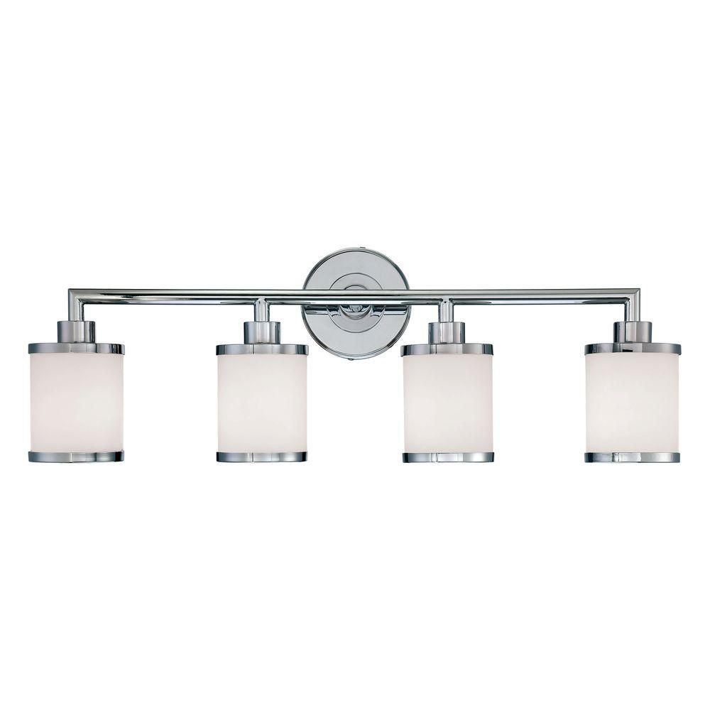 bathroom track lighting master bathroom ideas. Millennium Lighting 4-Light Chrome Vanity Light With Etched White Glass Bathroom Track Master Ideas