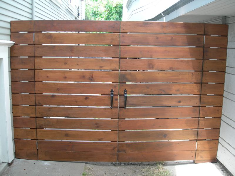 Beautiful Double Door Gate Down To Earth Landscaping Inc