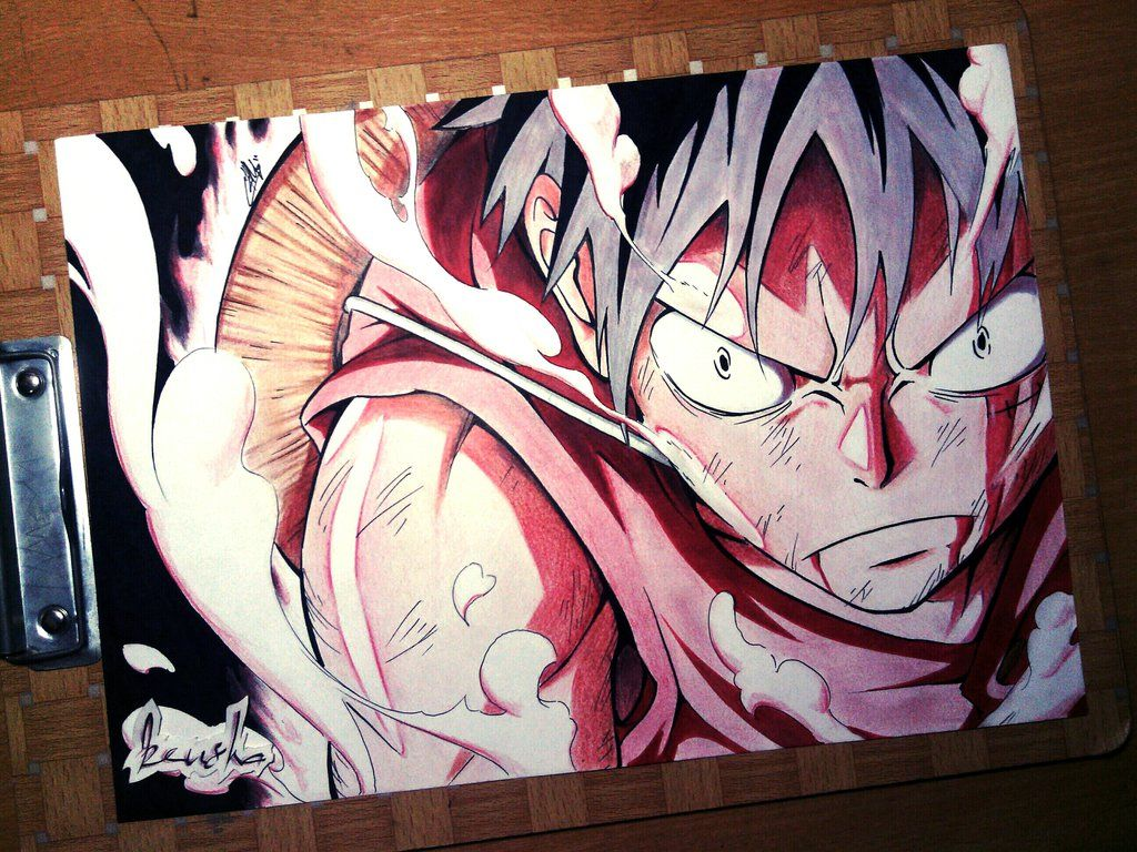 From the east blue … Monkey D Luffy Second Gear Anime Character Design Monkey D Luffy Anime Drawings Sketches