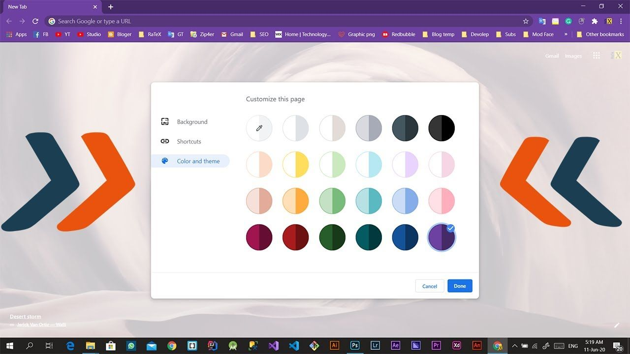 How To Change Color Theme In Googel Chrome Google Themes Chrome Apps Chrome Dark Mode