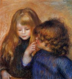 Young gypsy girls - Pierre-Auguste Renoir                                                                                                                                                                                 More