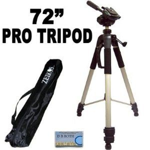 Professional Pro 72 Super Strong Tripod With Deluxe Soft Carrying Case For The Sony Dcr Sr40 Sr60 Sr80 Sr100 Camco Digital Camera Tripod Digital Slr Camera