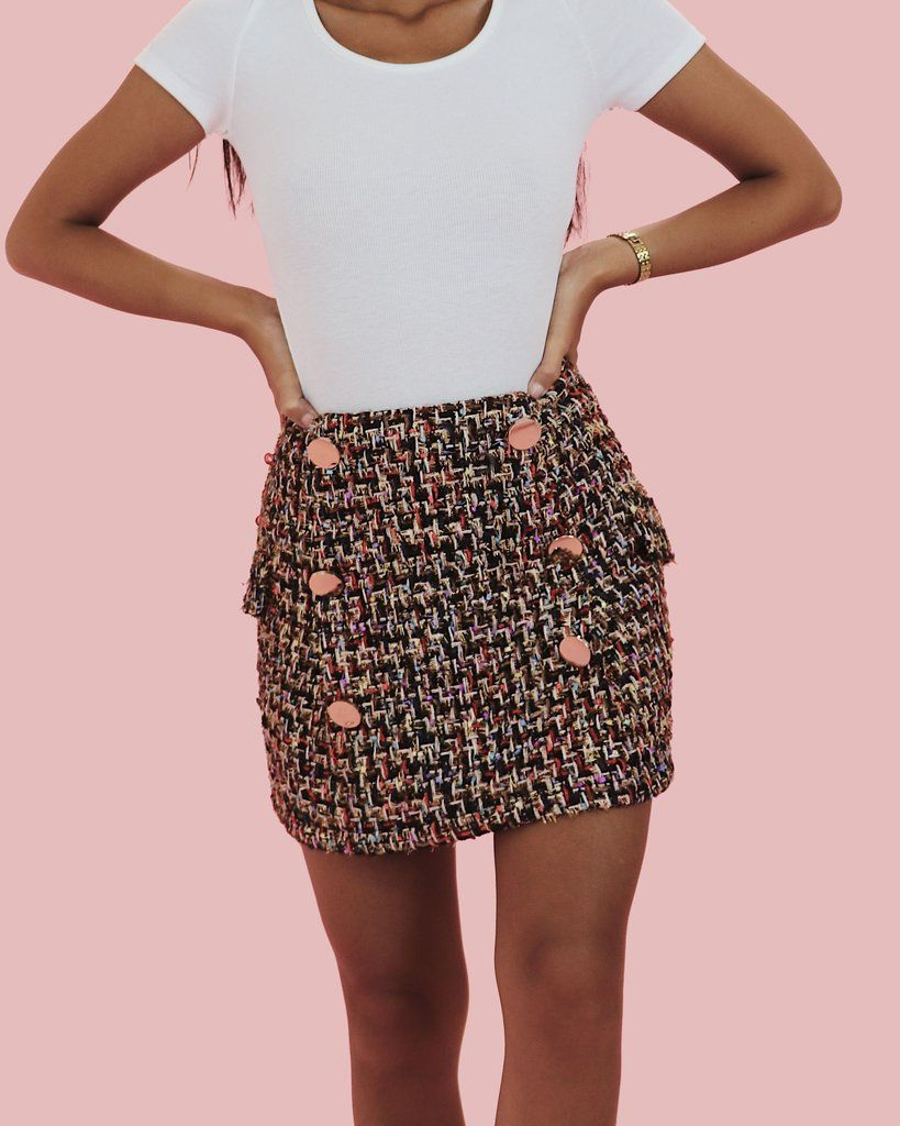 c44cecc43 Clique Skirt | Might purchase | Skirts, Tweed skirt, Mini skirts