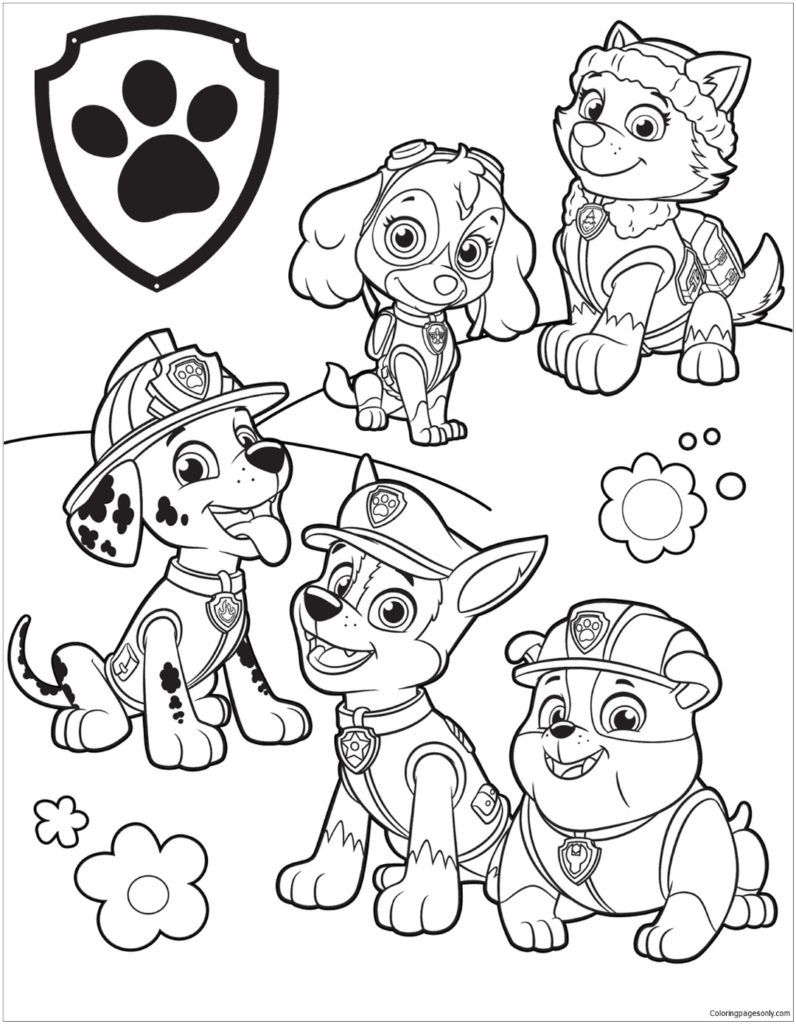 Paw Patrol Coloring Pages Movies