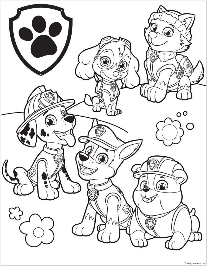 Kid Coloring Pages Paw Patrol