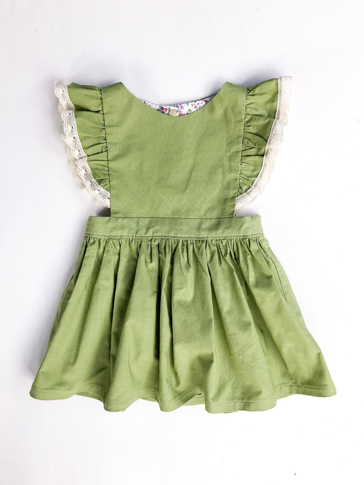 Pistachio Pinafore Dress Pinafore dress, Dresses, Girls