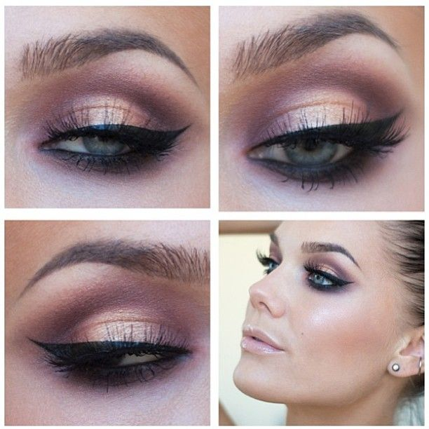 purple orange eye shadow hair makeup. Black Bedroom Furniture Sets. Home Design Ideas